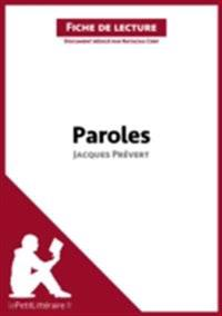 Paroles de Jacques Prevert (Fiche de lecture)