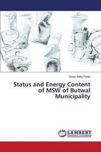 Status and Energy Content of MSW of Butwal Municipality