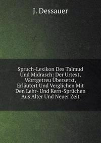 Spruch-Lexikon Des Talmud Und Midrasch
