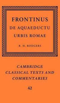 Frontinus: De Aquaeductu Urbis Romae