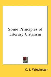 Some Principles of Literary Criticism