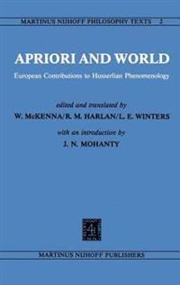 Apriori and World European Contributions to Husserlian Phenomenology