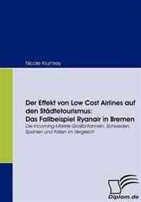 Der Effekt Von Low Cost Airlines Auf Den Städtetourismus-das Fallbeispiel Ryanair in Bremen
