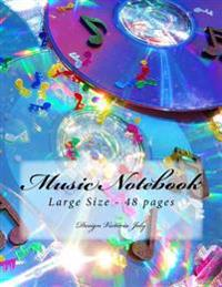 Music Notebook Large Size 48 Pages: Original Design Type 2