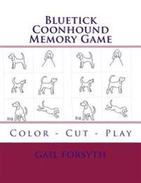 Bluetick Coonhound Memory Game: Color - Cut - Play