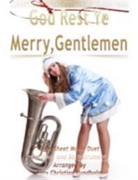 God Rest Ye Merry, Gentlemen Pure Sheet Music Duet for Oboe and Bb Instrument, Arranged by Lars Christian Lundholm