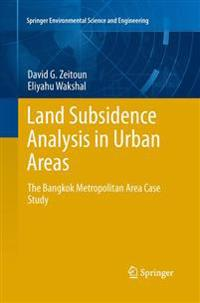 Land Subsidence Analysis in Urban Areas