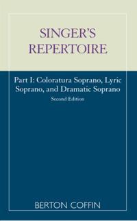 Singer's Repertoire, Part I