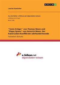 Tonio Kroger Von Thomas Mann Und Pippo Spano Von Heinrich Mann. Der Kunst-Leben-Konflikt Der Jahrhundertwende
