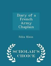 Diary of a French Army Chaplain - Scholar's Choice Edition