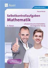 Selbstkontrollaufgaben Mathematik Klasse 9