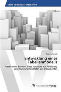 Entwicklung Eines Tabellenmodells