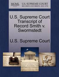 U.S. Supreme Court Transcript of Record Smith V. Swormstedt