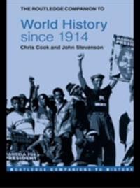 Routledge Companion to World History since 1914