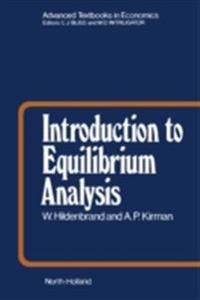 Introduction to Equilibrium Analysis