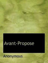 Avant-Propose