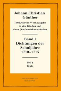 Dichtungen der Schuljahre 1710-1715