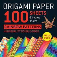 Origami Paper Rainbow Patterns, 96 Sheets