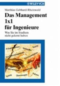 Das Management 1x1 f r Ingenieure