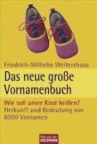 Das neue große Vornamenbuch - Wie soll unser Kind heißen?