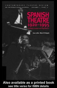 Spanish Theatre 1920-1995