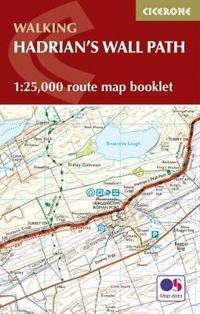 Hadrians wall path map booklet - 1:25,000 os route mapping