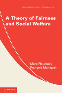 Theory of Fairness and Social Welfare