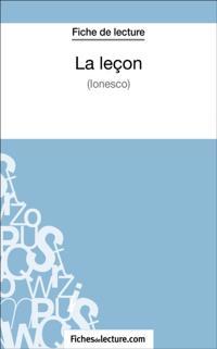 La lecon d'Eugene Ionesco (Fiche de lecture)