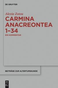 Carmina anacreontea 1-34