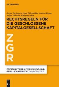 Rechtsregeln fur die geschlossene Kapitalgesellschaft