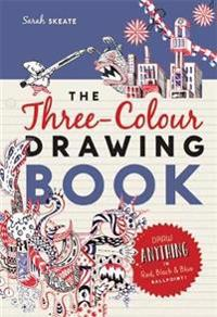 Three-colour drawing book - draw anything with red, blue and black ballpoin