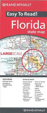 Rand McNally Easy to Read! Florida State Map