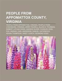 People from Appomattox County, Virginia