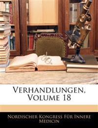 Verhandlungen, Volume 18