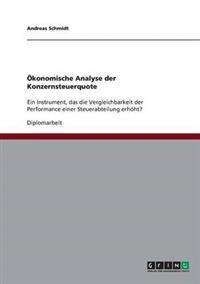OEKonomische Analyse Der Konzernsteuerquote