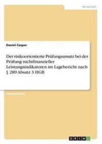 Der Risikoorientierte Prufungsansatz Bei Der Prufung Nichtfinanzieller Leistungsindikatoren Im Lagebericht Nach 289 Absatz 3 Hgb
