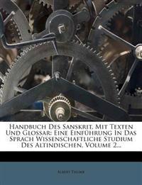 Handbuch des Sanskrit.
