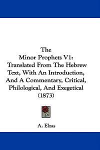 The Minor Prophets V1: Translated From The Hebrew Text, With An Introduction, And A Commentary, Critical, Philological, And Exegetical (1873)