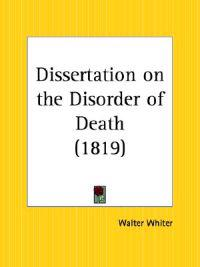 Dissertation on the Disorder of Death 1819
