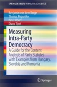 Measuring Intra-Party Democracy