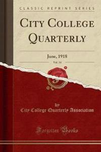 City College Quarterly, Vol. 14