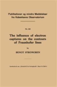 influence of electron captures on the contours of Fraunhofer lines