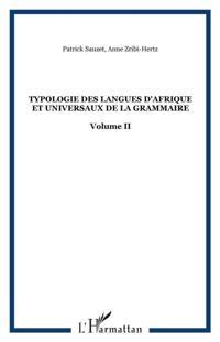 Typologie des langues d'afrique vol. 2
