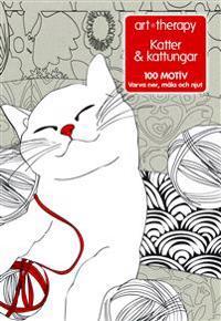 Katter & kattungar : 100 motiv - varva ner, måla och njut