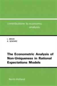 Econometric Analysis of Non-Uniqueness in Rational Expectations Models
