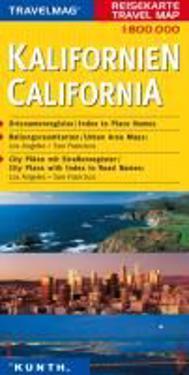 KUNTH Reisekarte Kalifornien 1 : 800 000