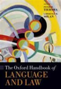 Oxford Handbook of Language and Law