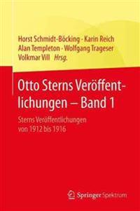 Otto Sterns Veroeffentlichungen - Band 1
