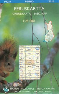 Peruskartta P4231 Perho 1:25 000