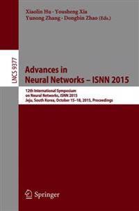Advances in Neural Networks – Isnn 2015